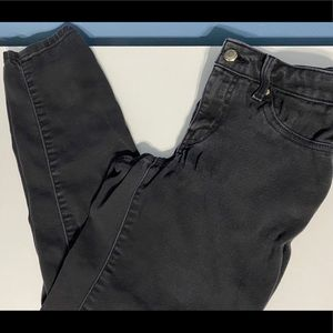 Jennifer Lopez Black Washed Out Capri Jeans Size 2